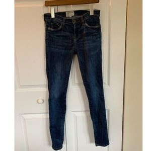 Current Elliott The Ankle Skinny Jeans Med Blue 26